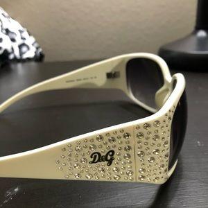 D&G white frame Sunglasses